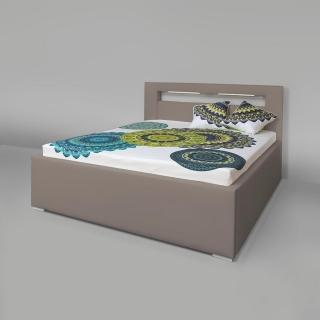4cbd428d4e250 Manželská posteľ AVA LERYN LED 180x200 cm s LED osvetlením textilná koža  Madryt