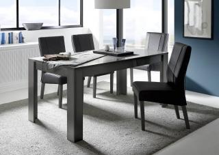 b0c7c1829c3f DAMA-T180 jedálenský stôl lesklá šedá antracitová farba