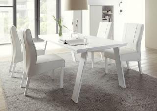 c13060eeaf31 Jedálenský stôl ALADIN-T biely matný lak   podnož kov